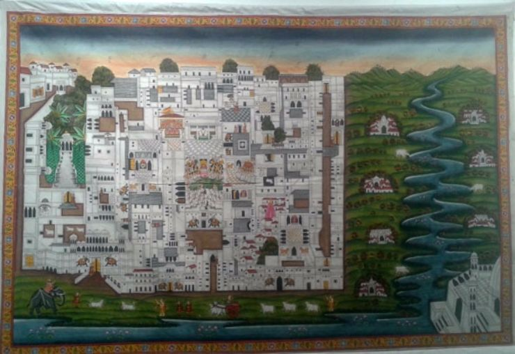 Shri Nathji Pichwai-map of Nathdwara