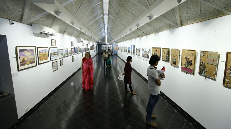 Unique art show Amdavad Ni Gufa exhibition, Art Exhibition in Ahmedabad, amdavad ni gufa, the gallery