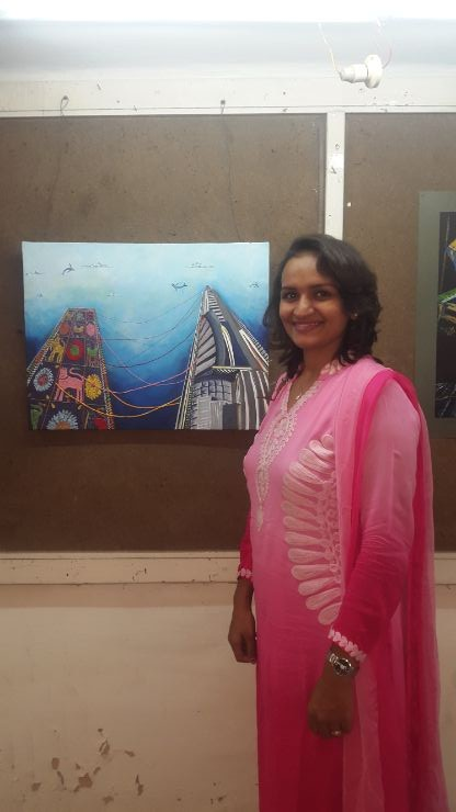Komal Mistry Winner Sheth CN College of Fine Arts