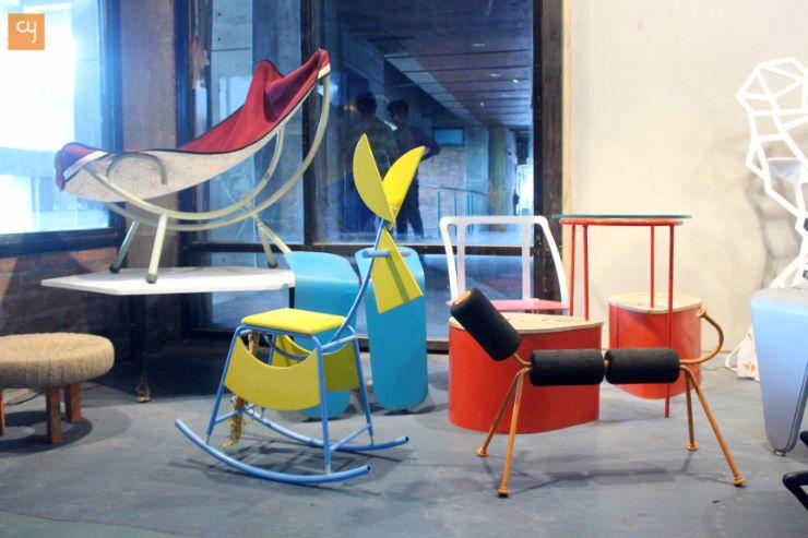 Scrap Design furnitures Innovation at NID, National institute of design, Ahmedabad