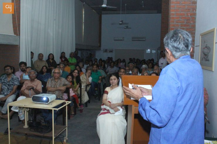 Shri Amit Ambalal, art and artists lecture series at kanoria centre for arts