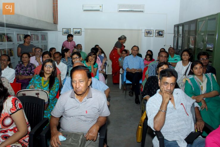 People at lecture in Kanoria centre for arts, Arts and Artists