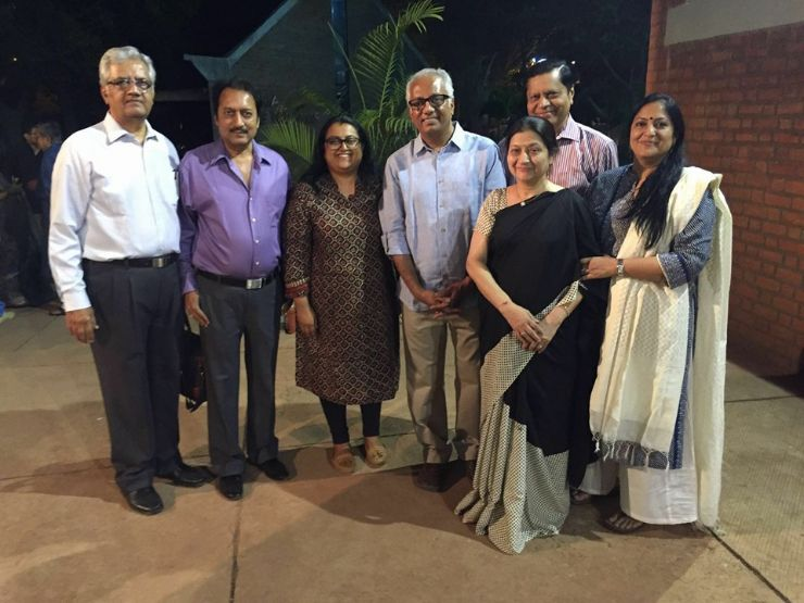 Atul Dodiya, Aruna Mehta, with guests at the lecture series