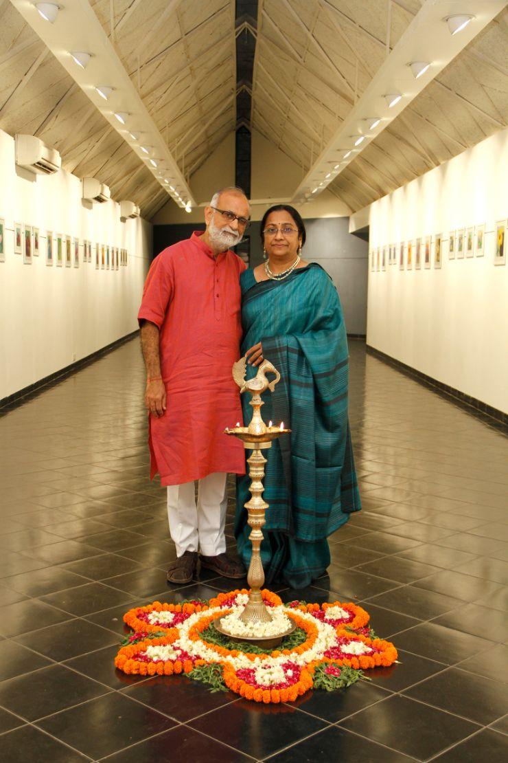 Mona Bhavsar, Shri Tushar Purani,  Art-Exhibition-Expression