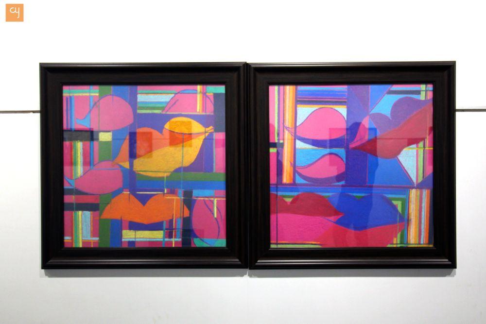 Sanjay Savaliya, Abstract art, oil painting on Canvas, the world of spirits
