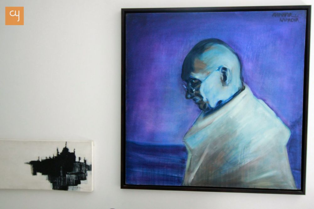 Architect Hiren Patel, setu, Portrait of Mahatma Gandhi