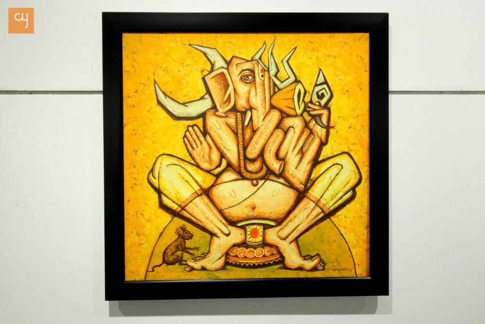 Rajkumar Sarde's Ganesha paintings