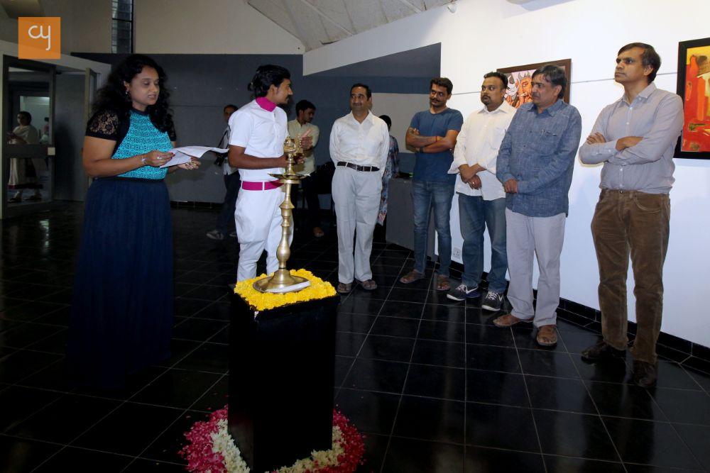Painting Exhibition, architect Hiren Patel, Sheth C N Fine Arts Ratilal Kansodariya, Amdavad ni gufa