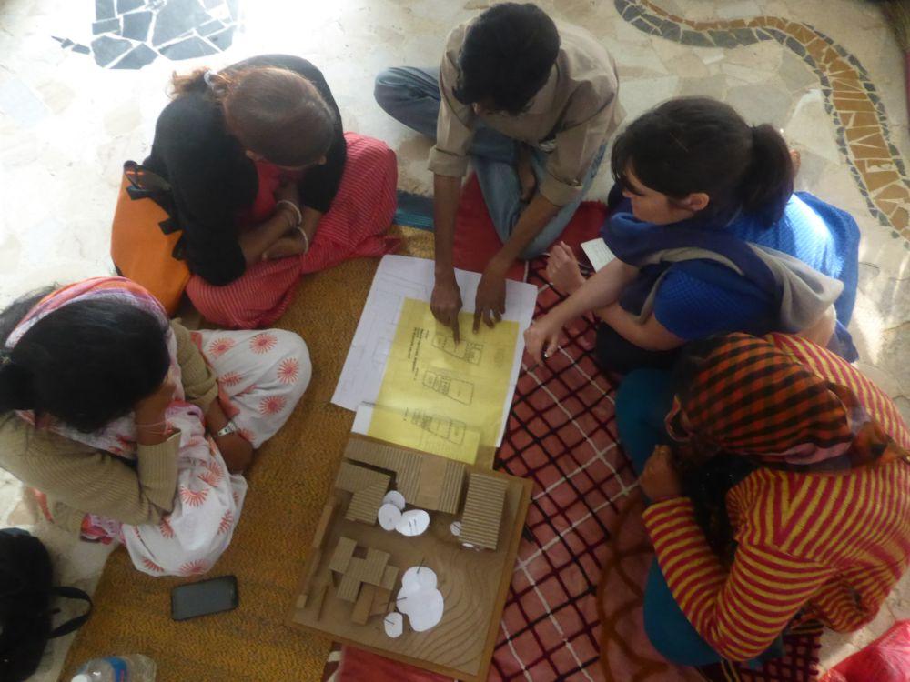 discussion at the Anganwadi Project, Anganwadi