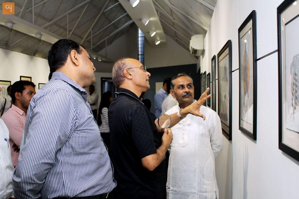 Micro Circle Art exhibition, Amdavad ni Gufa, Hiralal Patel
