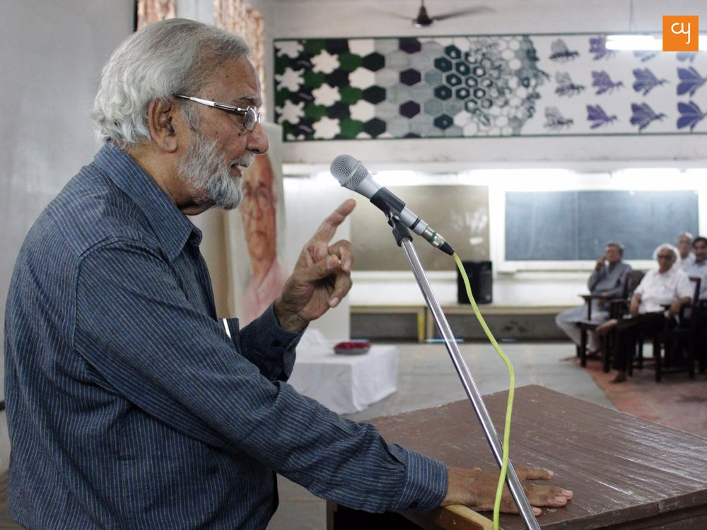 Prof Gulam Mohammed at C.N. College of fine arts
