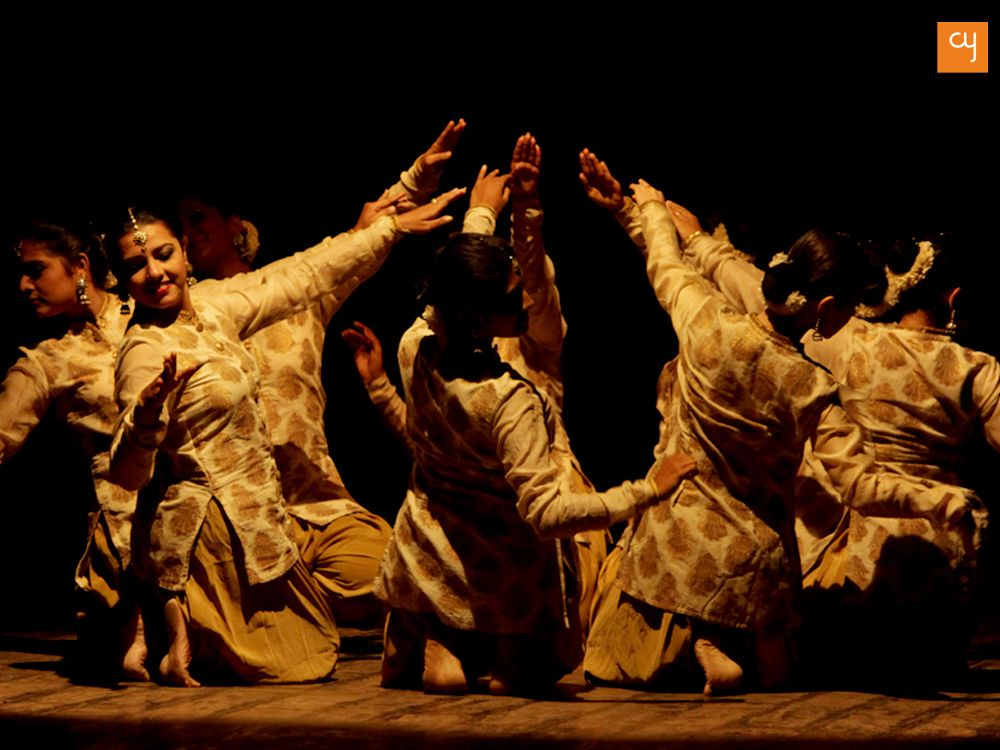 Kadamb, Kathak dancer, students performing