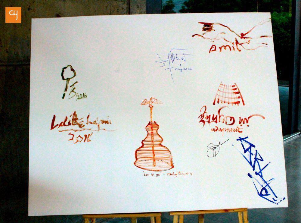 A dialogue between Easel and Chisel, IIM Ahmedabad