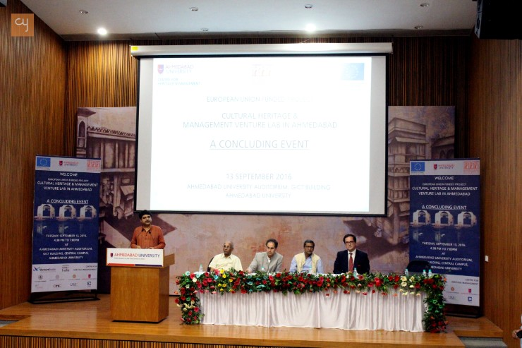 Ahmedabad University-Centre for Heritage Management organized event of EU-funded project Cultural Heritage
