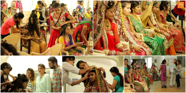 Blind People's Association organised 'Bridal Make Up' competition