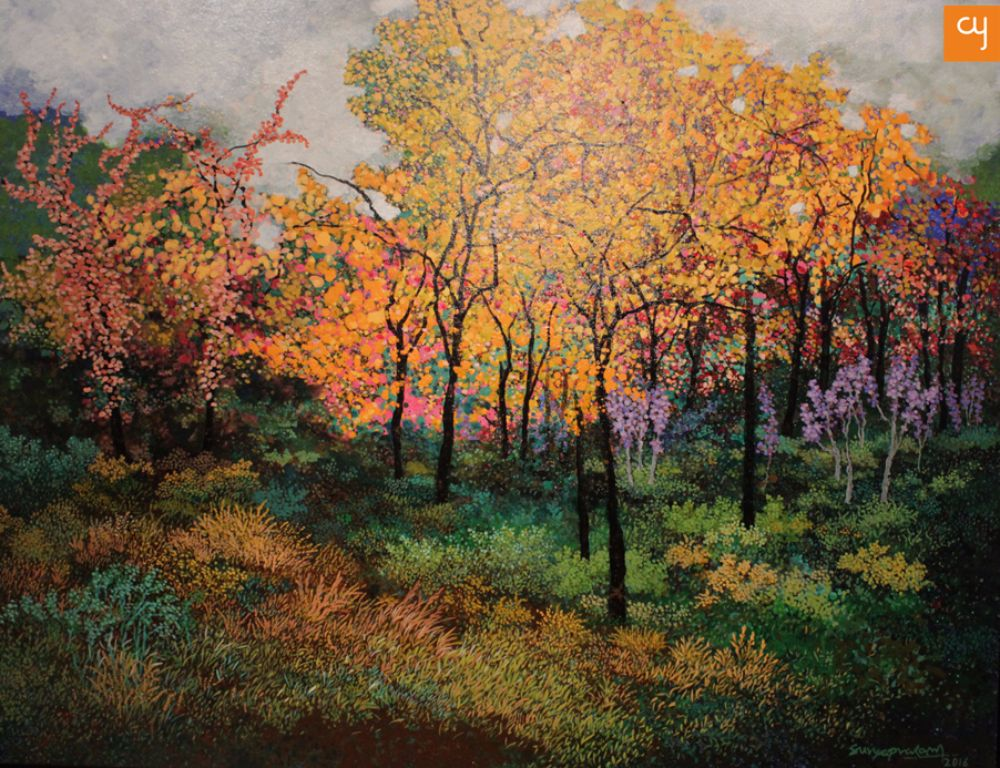 Romance with Nature : Paintings by Surya Prakash