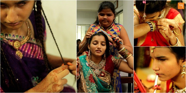 Bridal Make Up' competition In Blind People's Association Ahmedabad