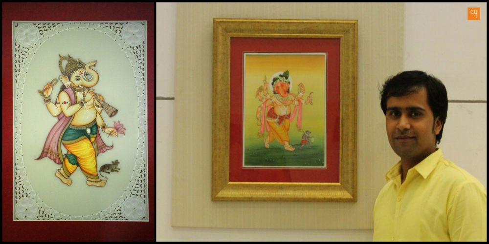 Kuldeepak Soni painting of Ganesha