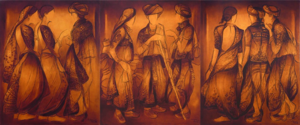 Paintings by Vrindavan Solanki