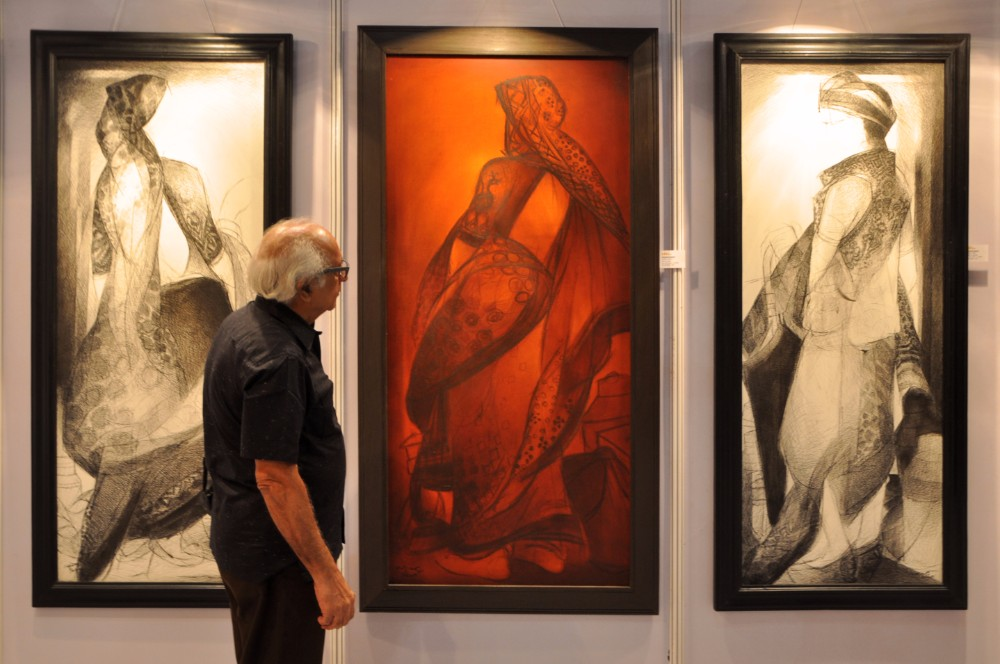 Vrindavan Solanki at exhibition in mumbai - Aura Art at UBM Index Fairs
