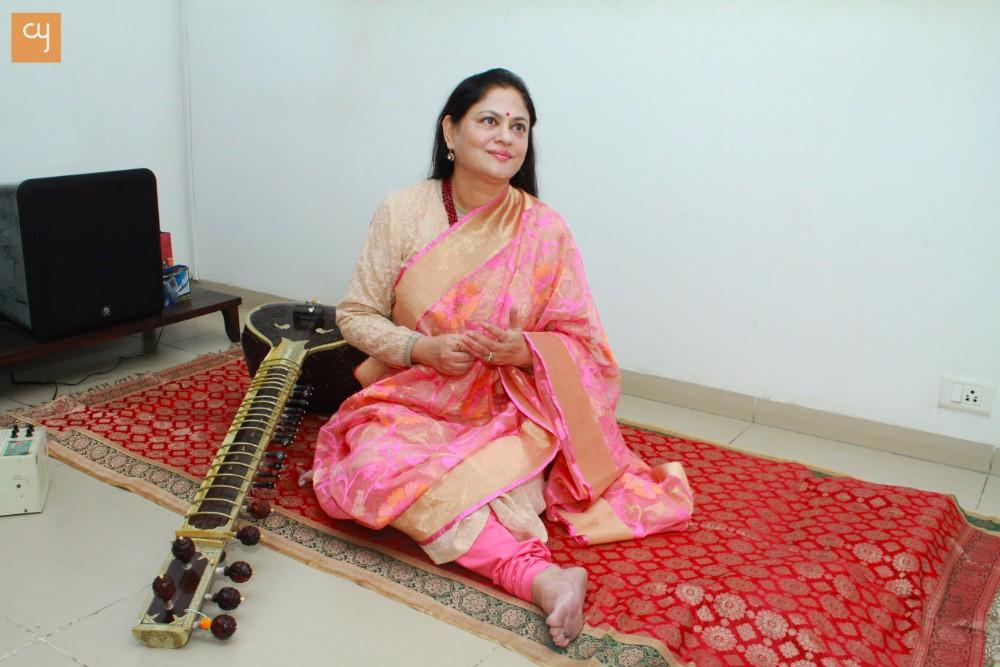 Acclaimed Sitarist Amita Dalal from Ahmedabad
