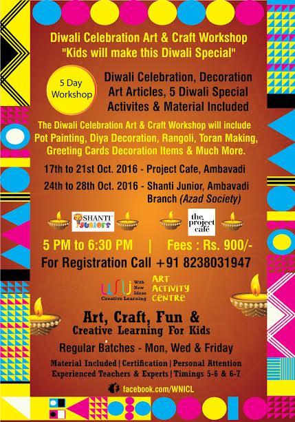 Diwali Celebration Art Craft Workshop For Kids In Ahmedabad