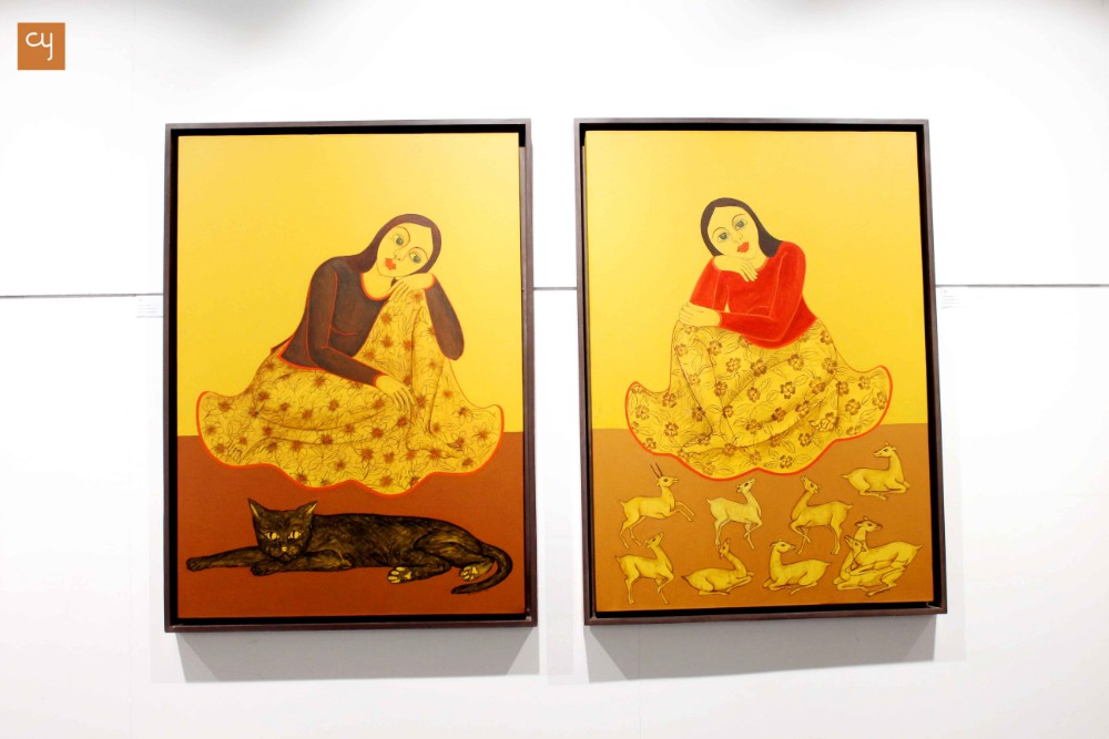 Saptadasha Shree Dal Women Artists Art Exhibition at Amdavad Ni Gufa Ahmedabad