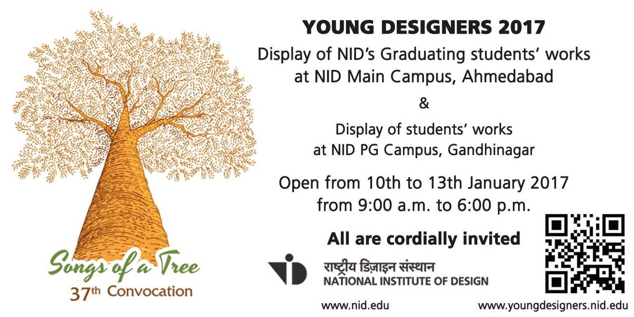 NID, Songs of a Tree, Young Designers 2017, National Institute of Design, ahmedabd, ghandhinagar