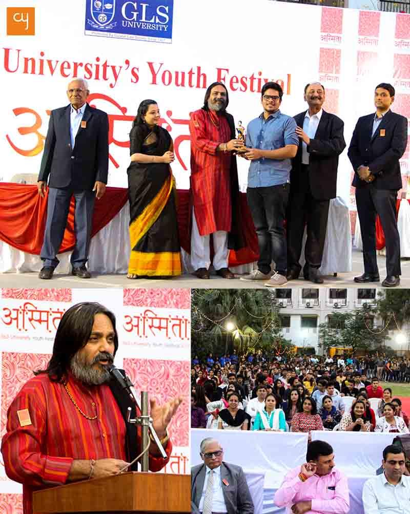 GLS University Ahmedabad, Cultural event, Asmita 2017, Yogesh Gadhvi