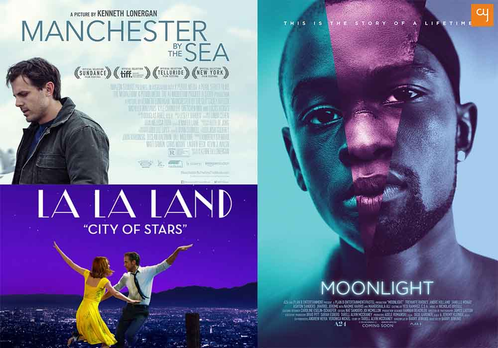 oscar 2017 predictions, La La Land, Manchester by the Sea, Moonlight