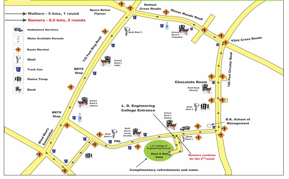 Motif Charity Walk Route Map