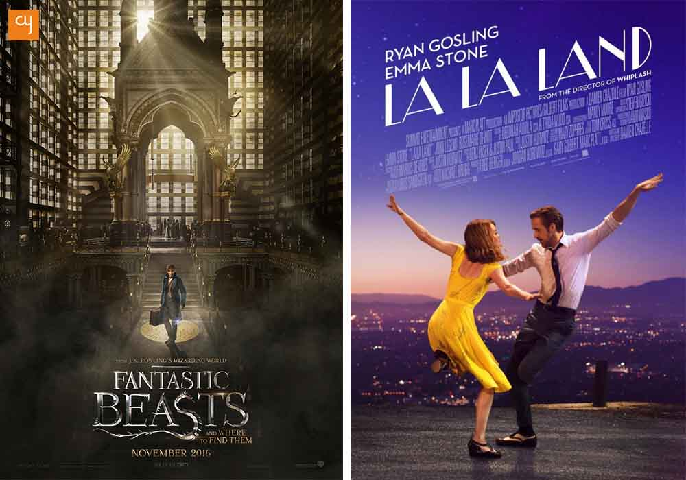 oscar-nominations-La La Land and Fantastic Beasts and Where to Find Them