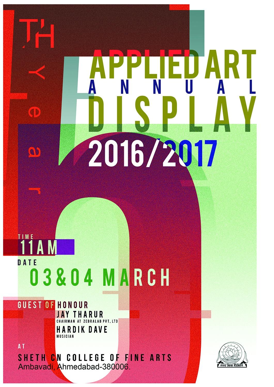 Applied Art Annual Display Sheth Cn College Of Fine Arts Creative Yatra