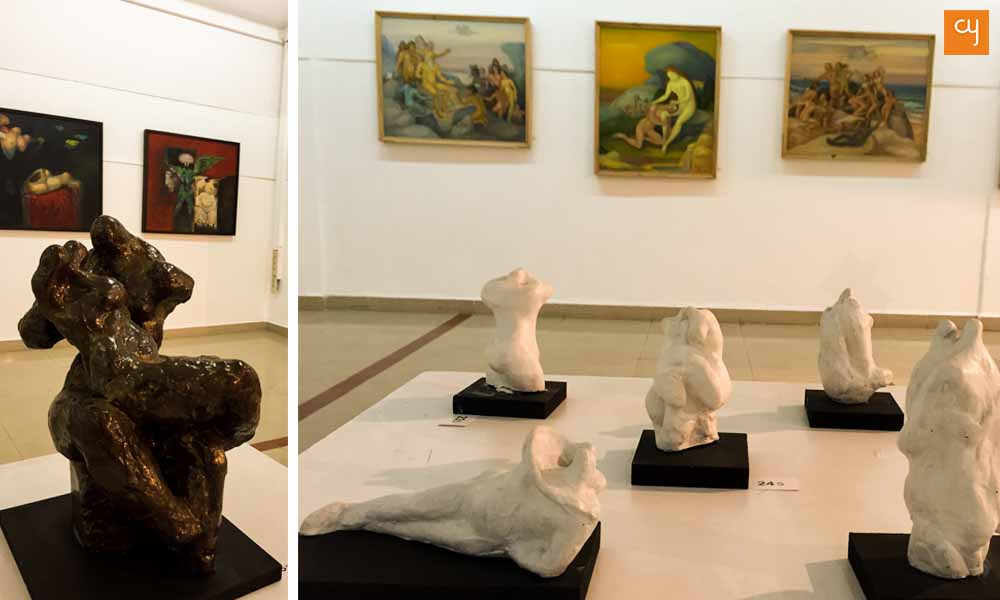 nagji-chauhan-art-exhibition, sculpture and painting