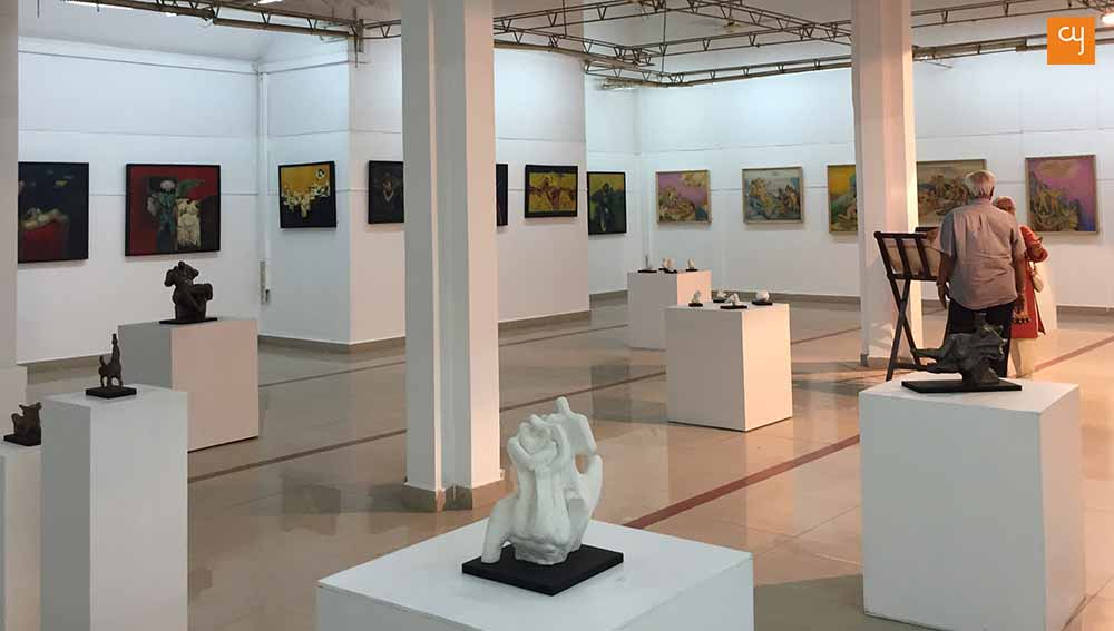 nagji-chauhan-art-exhibition, sculpture and paintings