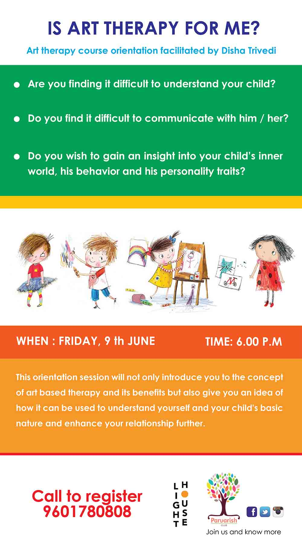 Art Therapy to Understand Child's Behaviour - Workshops in