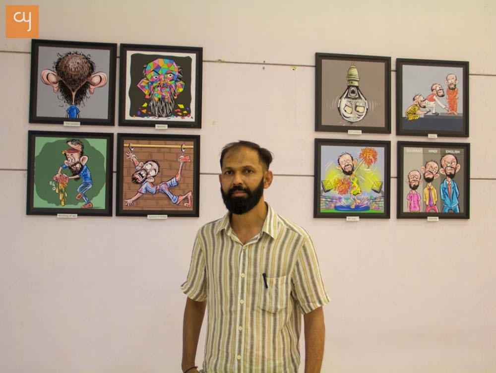 ashok-adepal-cartoonist-exhibition-in-ahmedabad