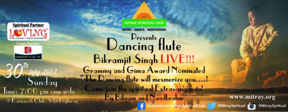 dancing-flute-bikramjit-singh-live, Mitray Spiritual Club