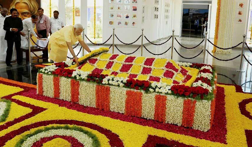 modi-inaugurates-abdul-kalams-memorial-in-tamil-nadu
