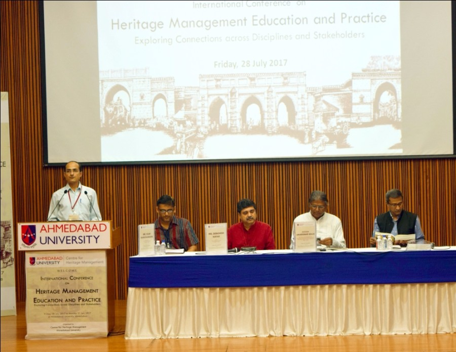 professor-neel-kamal-chapagain-conference-chair-at-inaugural-event-of-ahmedabad-university-international-conference-on-heritage-management-education-practice-3