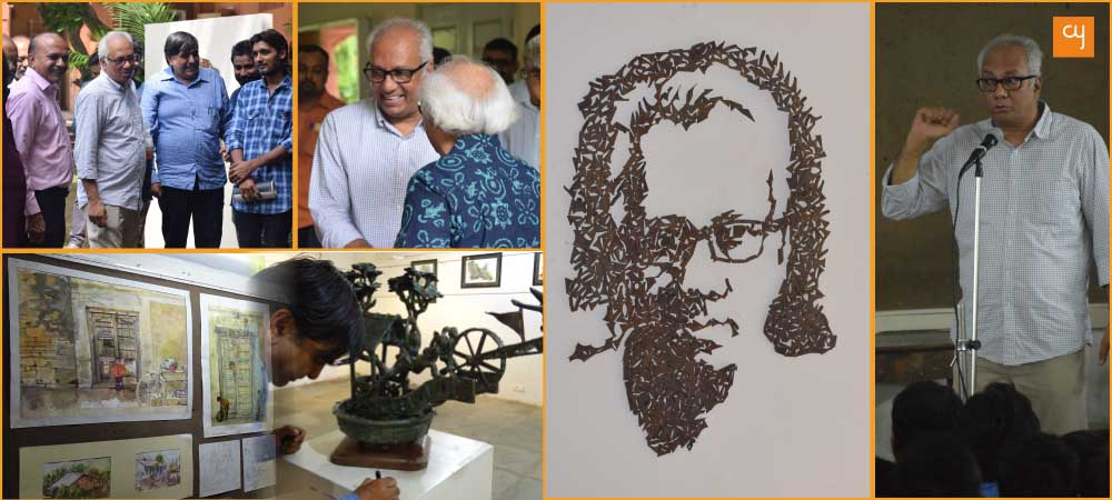 Artist Atul Dodiya at CN College, Ahmedabad