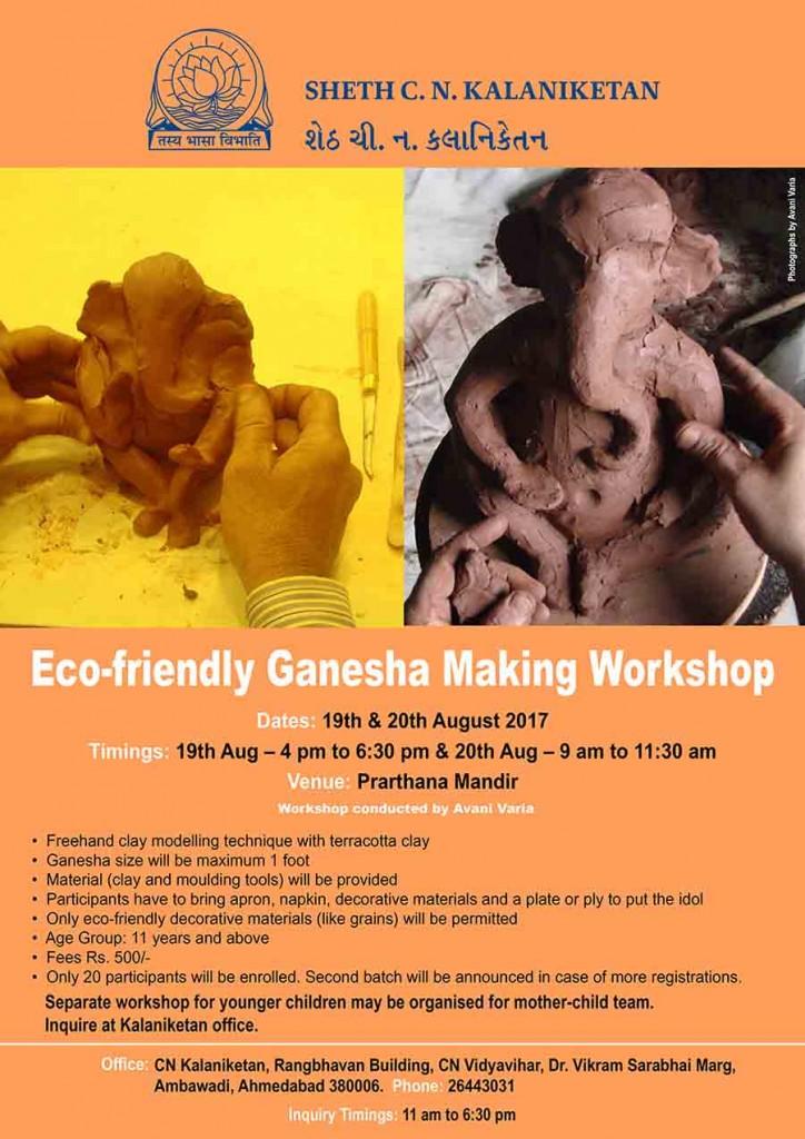 Eco-friendly Ganesha Making Workshops in Ahmedabad