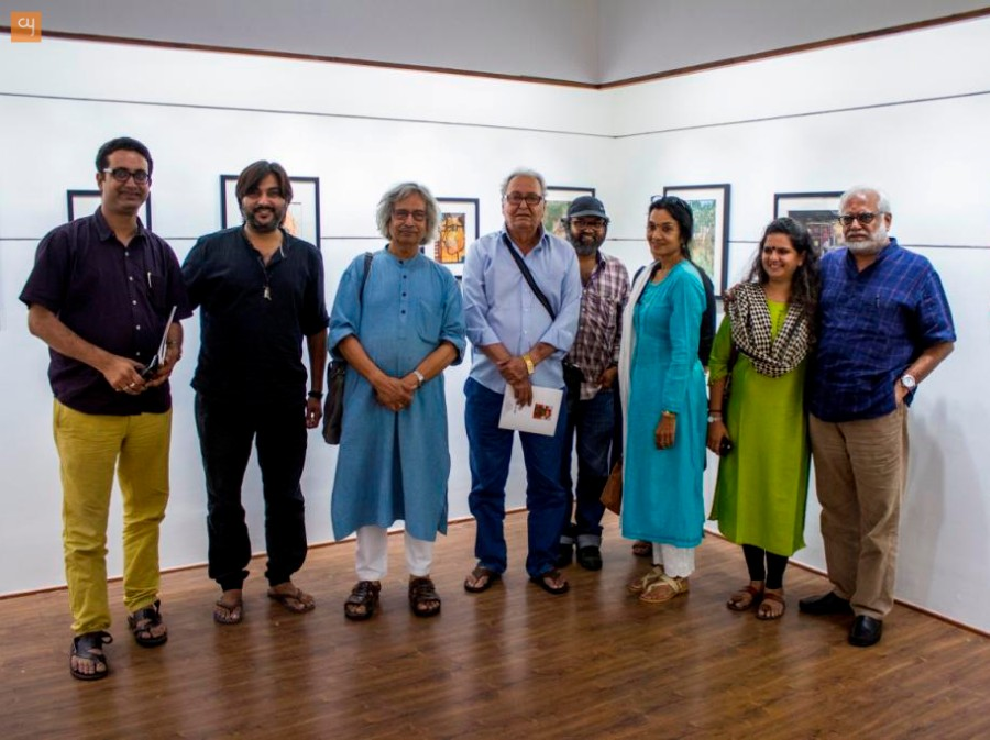 Soumitra Chatterjee - Art exhibition at Satya Art Gallery, Group of Artists