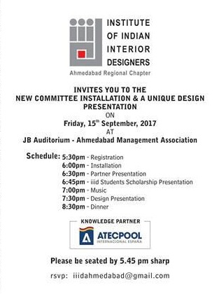 Events In Ahmedabad Installation And Oath Institute Of Indian Interior Designers