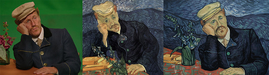 Jerome Flynn's character based on the Portrait of Dr Gachet (source: lovingvincent.com)