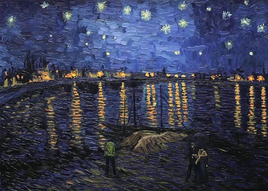 Starry Night over the Rhone (source: ufunk.net)