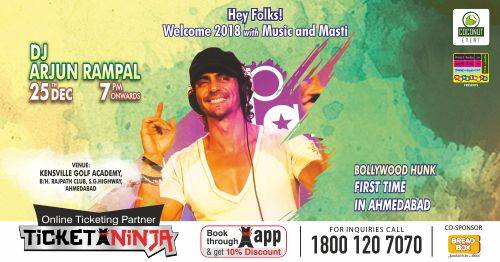 DJ Arjun Rampal - DJ Music Concert in Ahmedabad