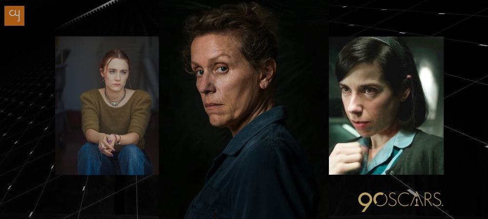 oscars_3, Frances McDormand, Saoirse Ronan, Sally Hawkins
