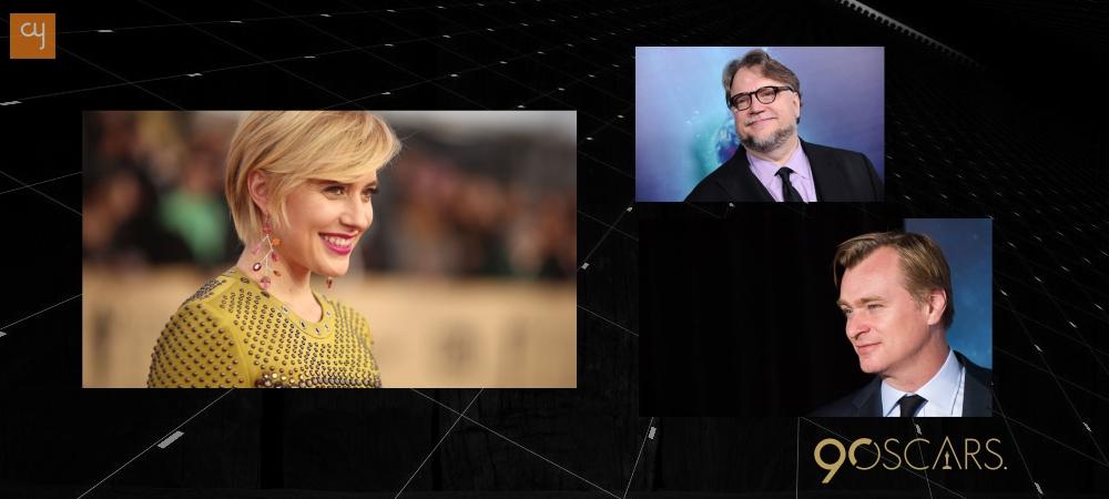 oscars_4, Christopher Nolan, Guillermo del Toro,Greta Gerwig