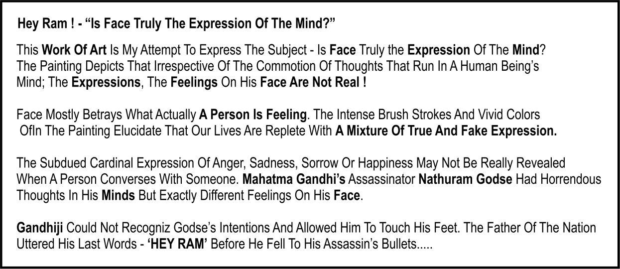 Hey Ram, Art Exhibition, Amdavad ni Gufa, Events in Ahmedabad, Ranjan Narkar, Visual Arts.
